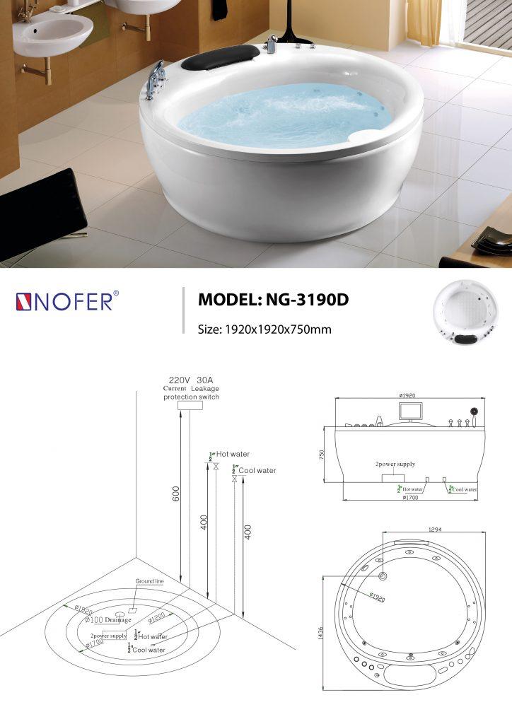bồn tắm massage NG-3190D