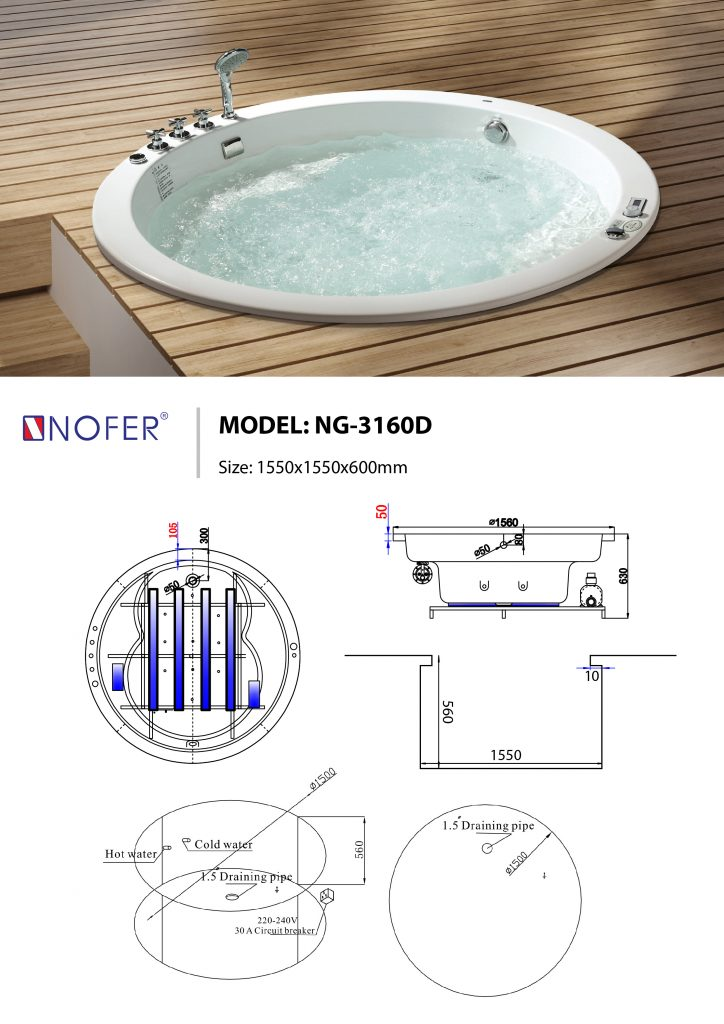 Sơ đồ kỹ thuật bồn âm NG-3160D
