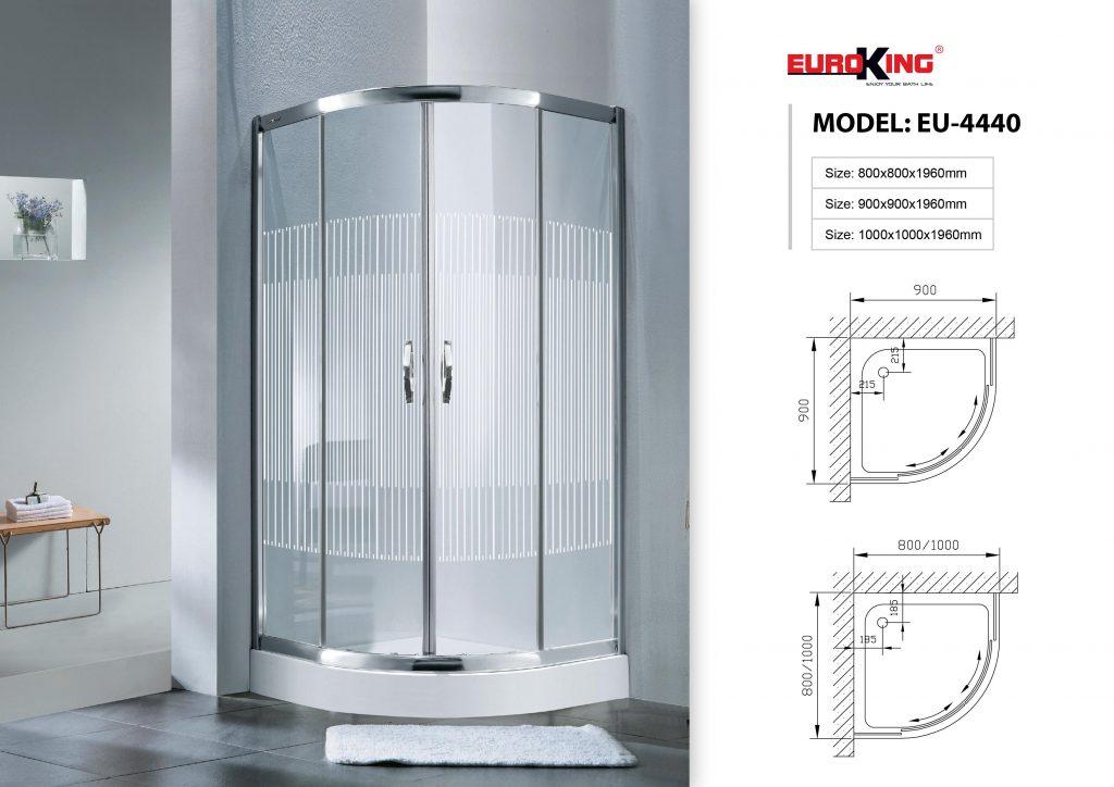 Bản vẽ kỹ thuật phòng tắm vách kính EU-4440