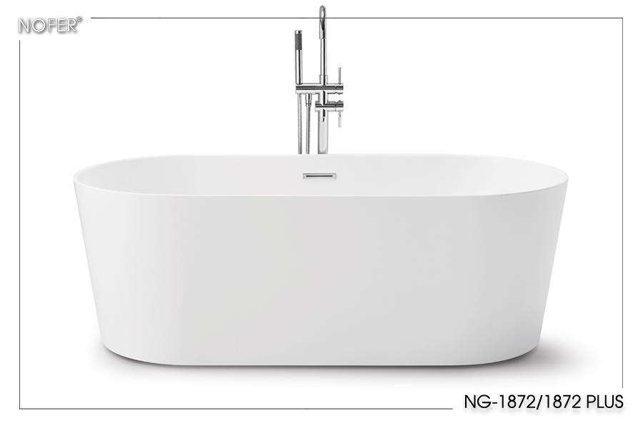 Bề mặt bồn tắm NG-1872 được gia công trơn nhẵn hoàn toàn.