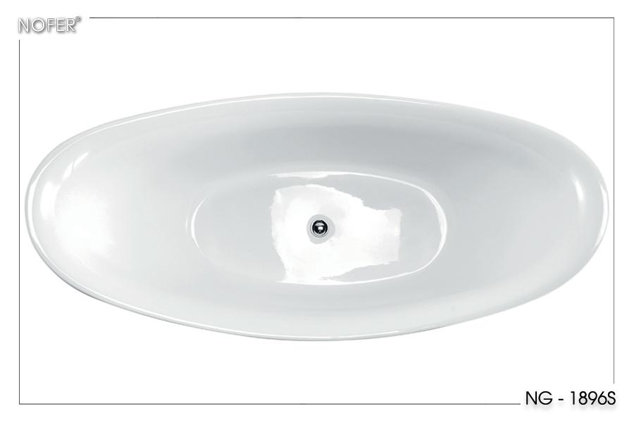 Thân bồn tắm được cấu tạo hoàn toàn từ acrylic.