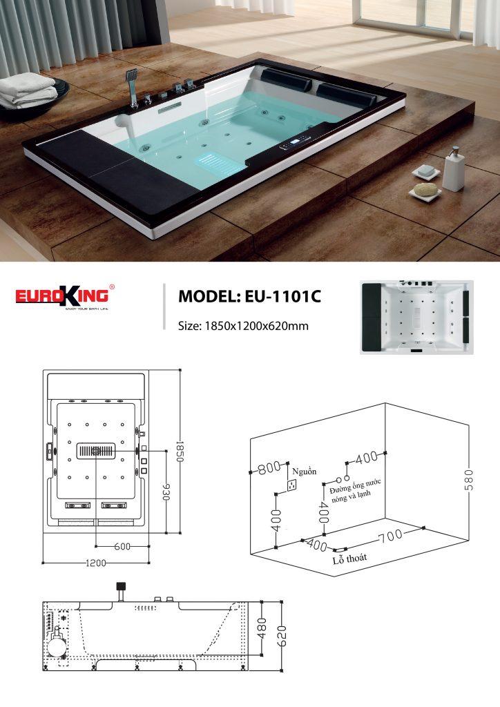 Bản vẽ sơ đồ kỹ thuật EU-1101C