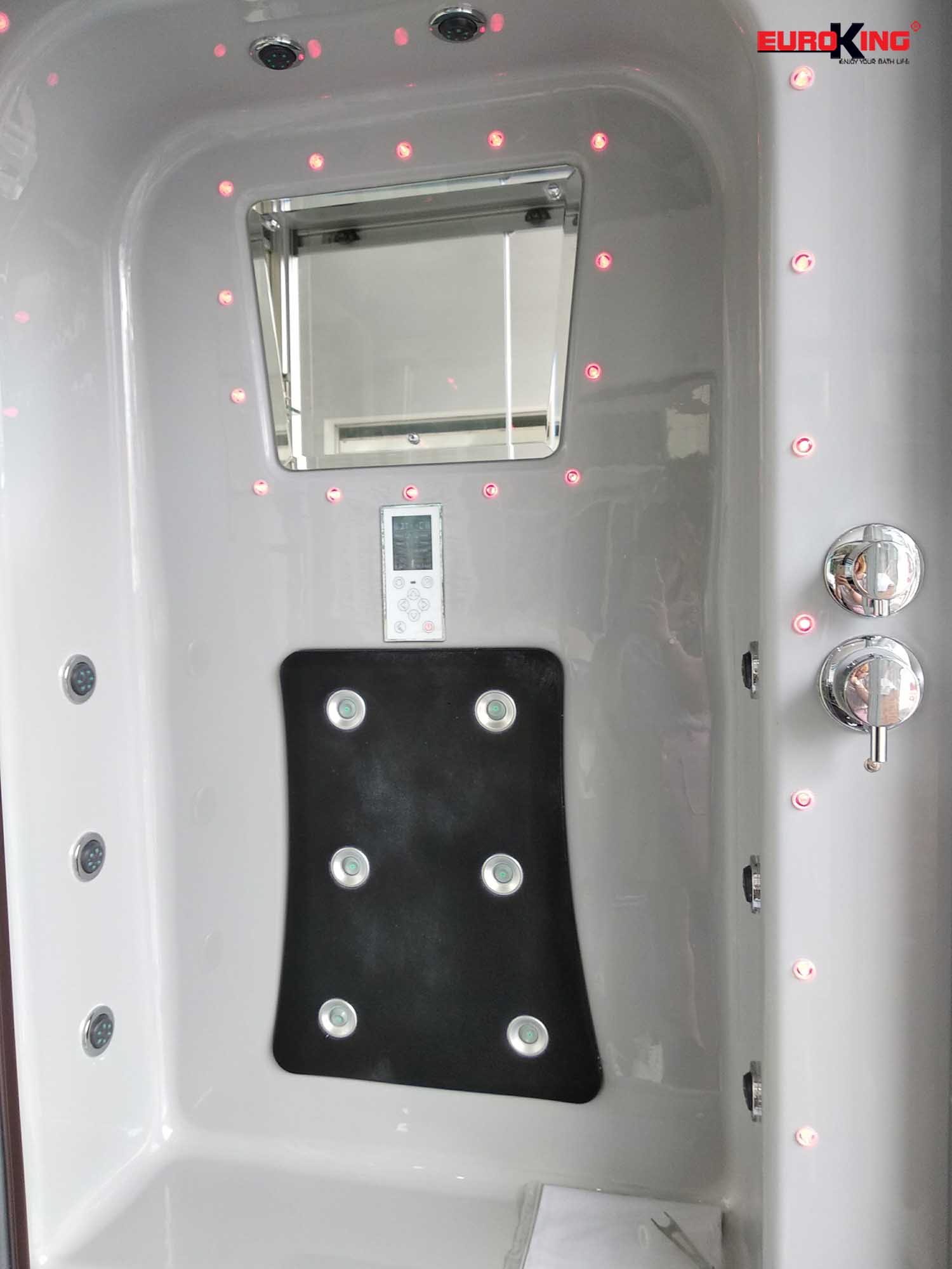 Hệ thống massage lưng và 2 bên vách của phòng EU-A601