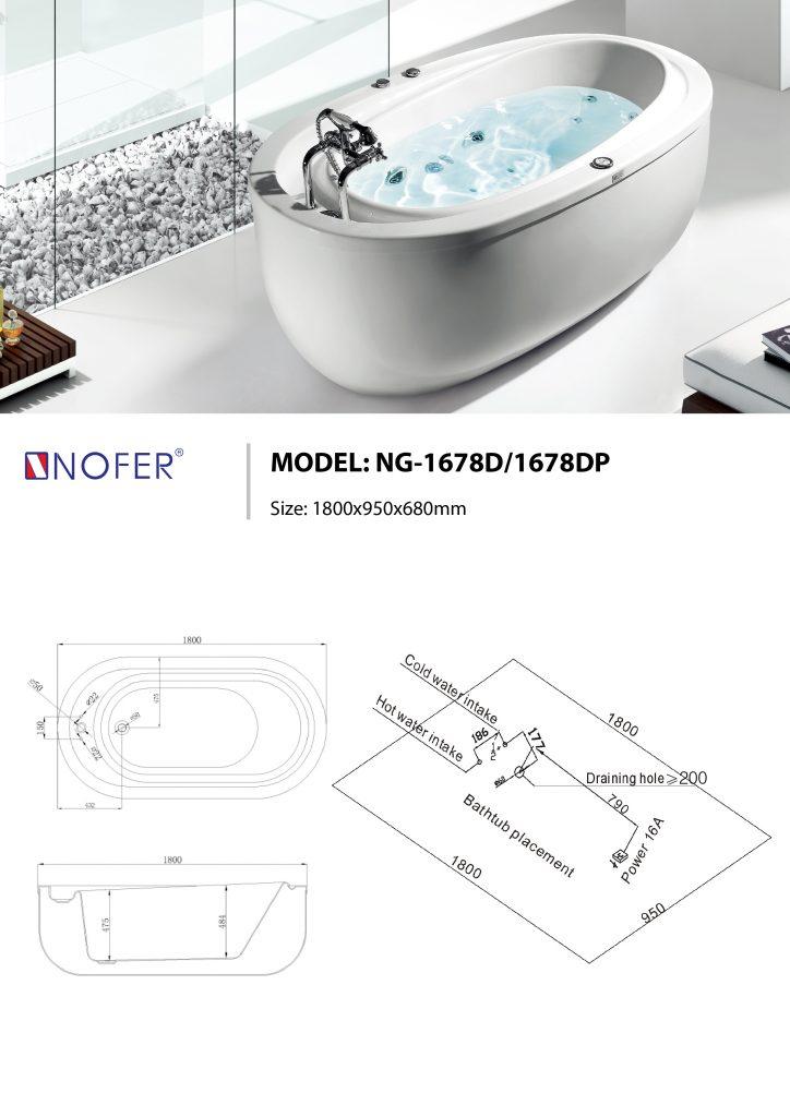 Sơ đồ điện nước bồn tắm NG-1678D