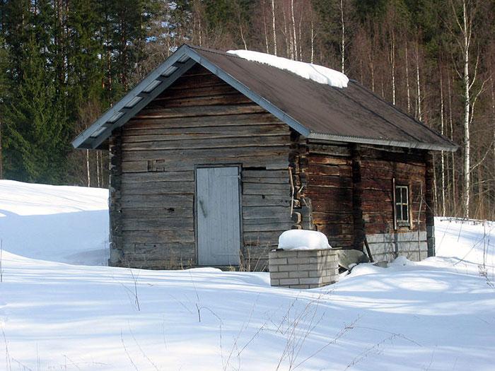Một phòng xông hơi truyền thống ở Phần Lan.