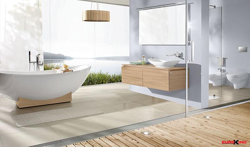 Ánh sáng tự nhiên luôn mang lại rất nhiều lợi ích trong trang trí phòng tắm