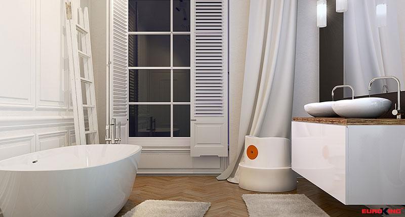 Lựa chọn những tấm thảm và rèm trang trí phòng tắm phù hợp mang lại không gian sang trọng, đẳng cấp.