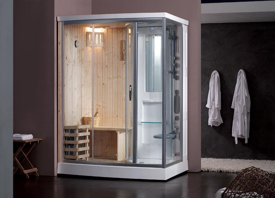 Phòng xông hơi đa năng tích hợp cả phòng xông hơi ướt, phòng xông hơi khô, phòng tắm, máy massage trong cùng một sản phẩm.