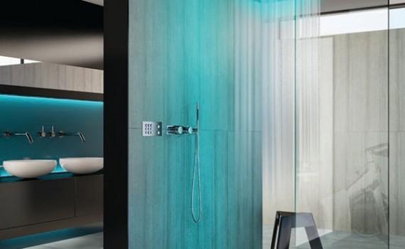trang trí phòng tắm với đèn led âm trần