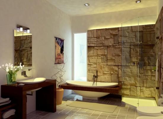 Bố trí đèn vào các vị trí được sử dụng nhiều như gương, bồn tắm, ...