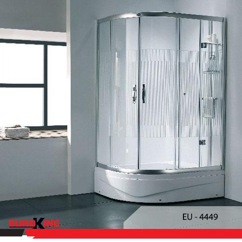 Phòng tắm vách kính cửa lùa làm phòng tắm sang trọng hơn