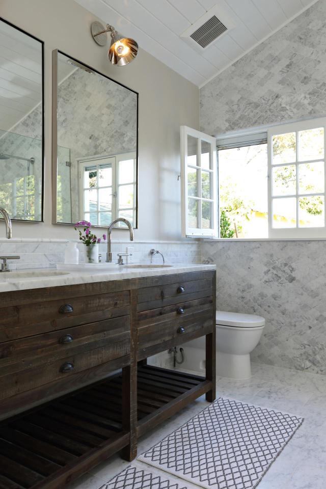 10 kiểu phòng tắm mộc mạc