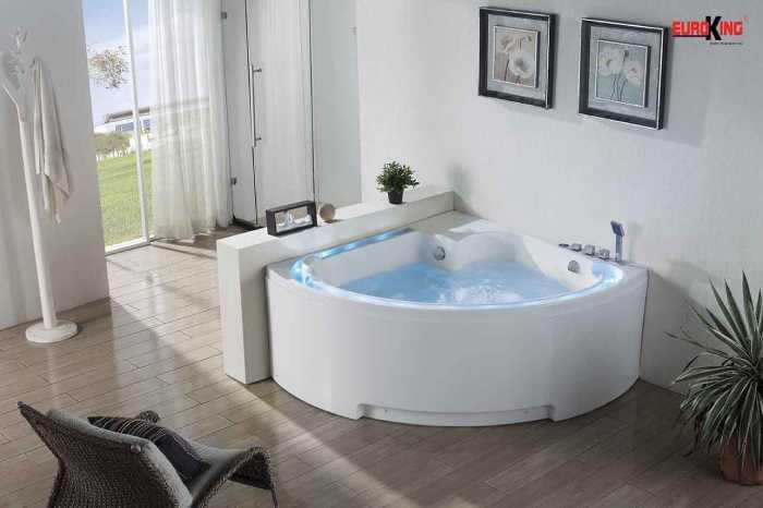 bồn tắm góc massage