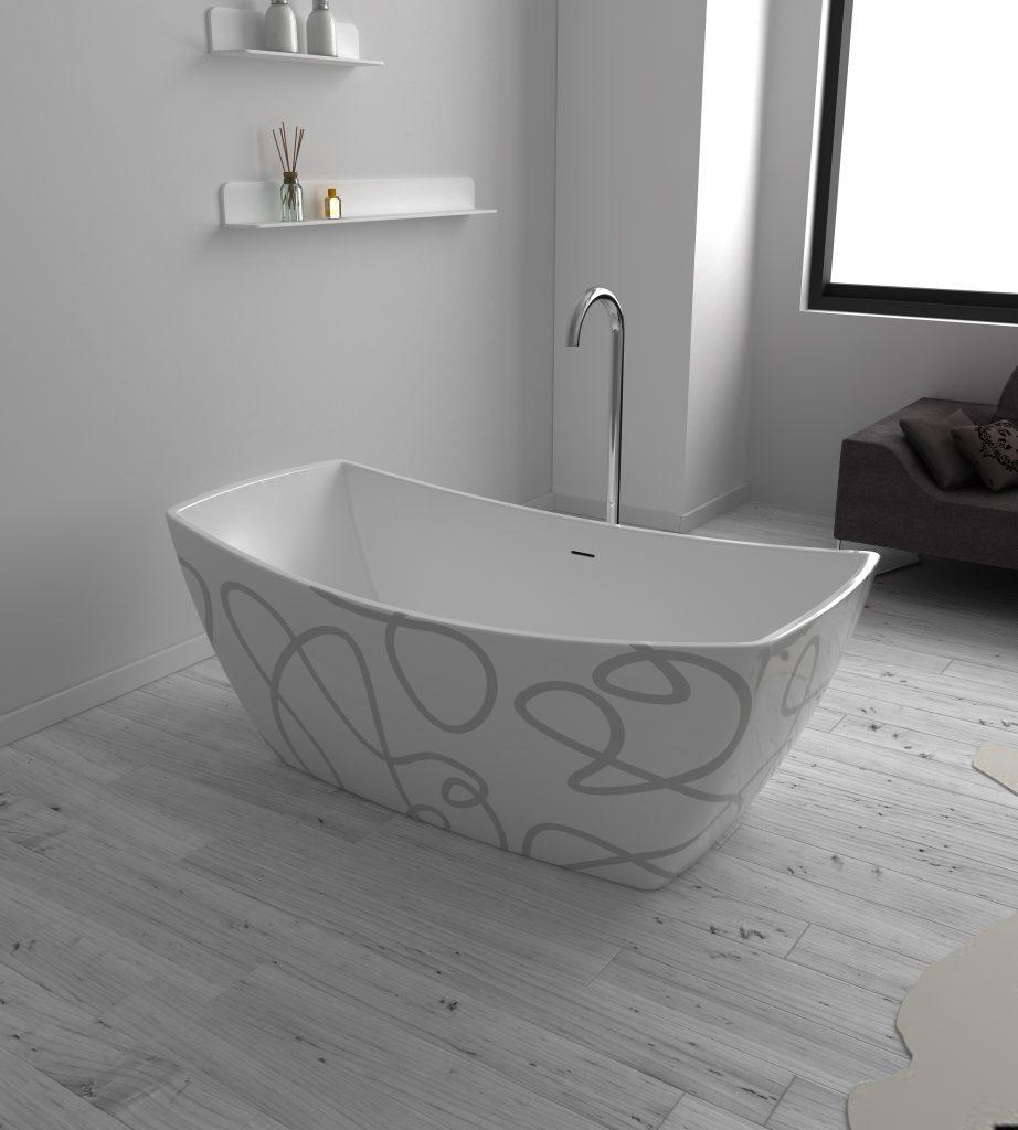 Bồn tắm EU - 6033 ( Hoạ tiết )