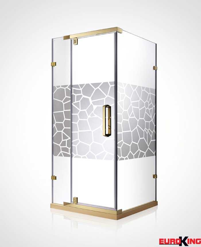 Mẫu phòng tắm vách kính có hoa văn
