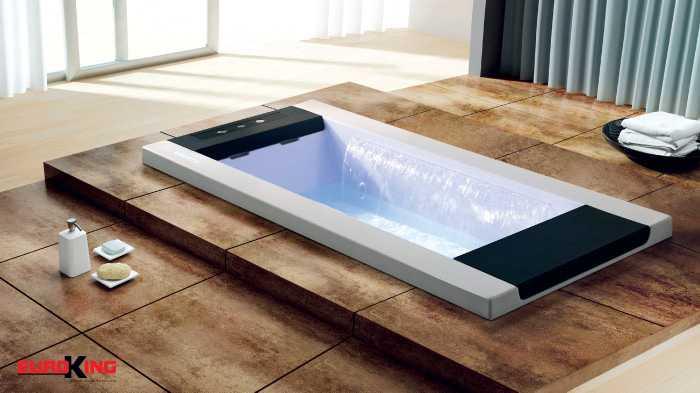 Mẫu bồn tắm massage âm sàn dành cho 2 người