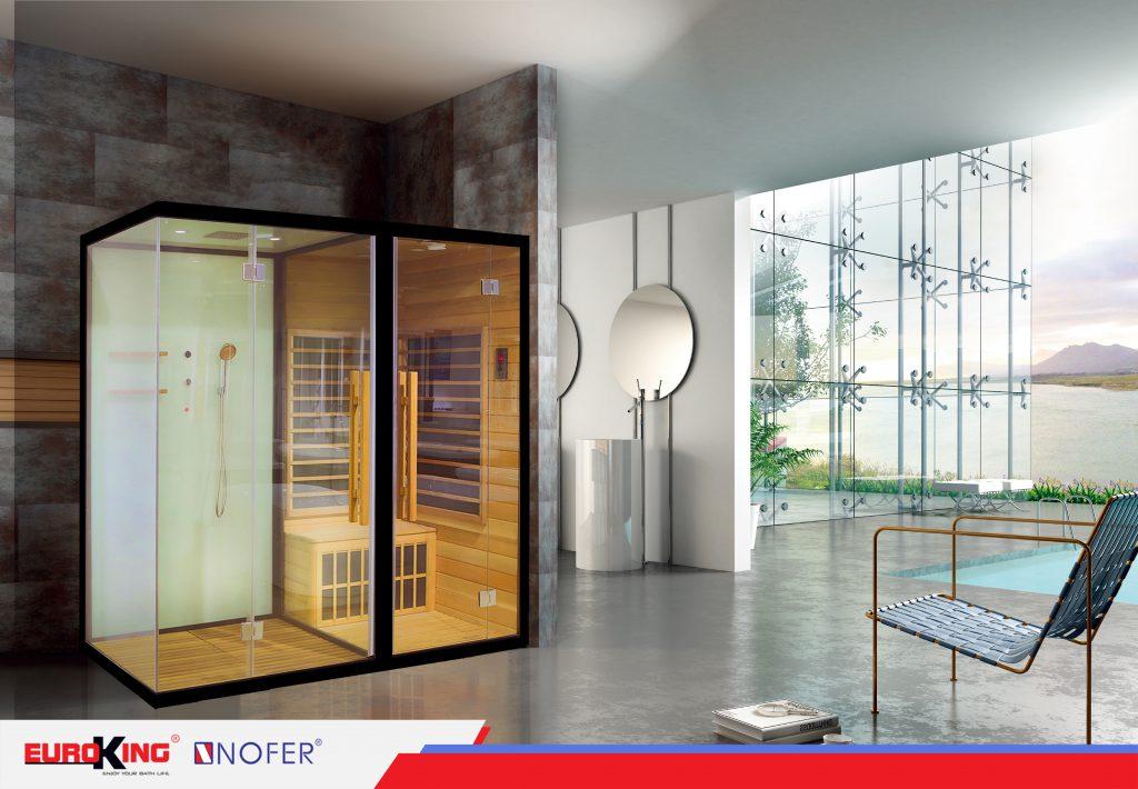 Phòng xông hơi đa năng SN-801 tích hợp đầy đủ hai loại hình xông hơi