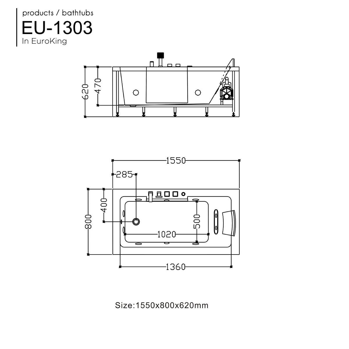 Bồn tắm massage EU-1303