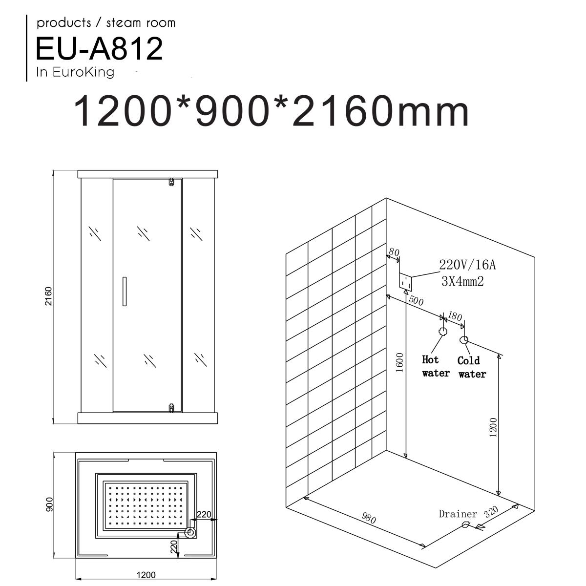 Phòng xông hơi EU-A812