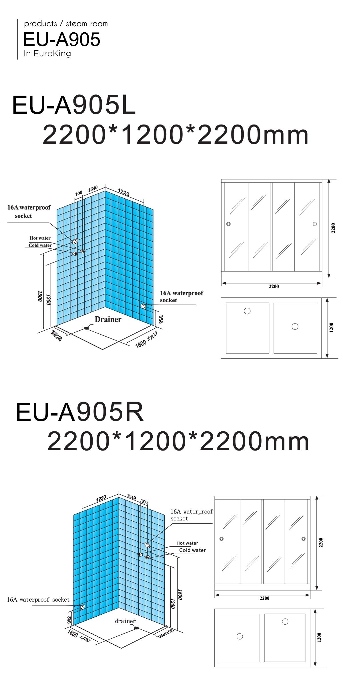 Phòng xông hơi EU-905
